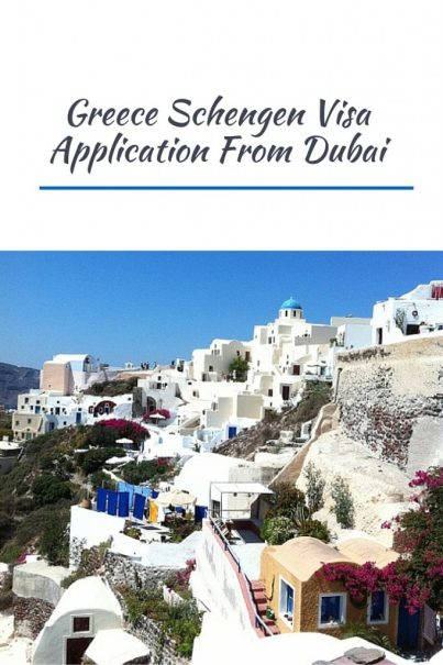 Greece Schengen Visa Application From Dubai