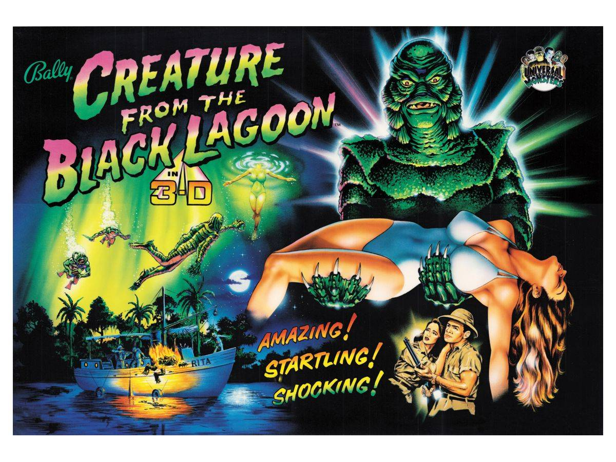 Image result for creature from the black lagoon pinball translite