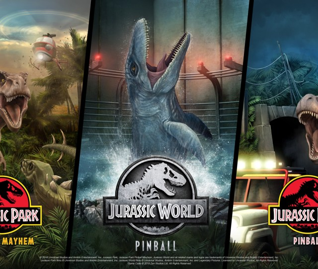 Celebrate The 25th Anniversary Of Jurassic Park With Prehistoric Pinball Perfection Jurassic World Pinball Gives You Three Ways To Experience The History