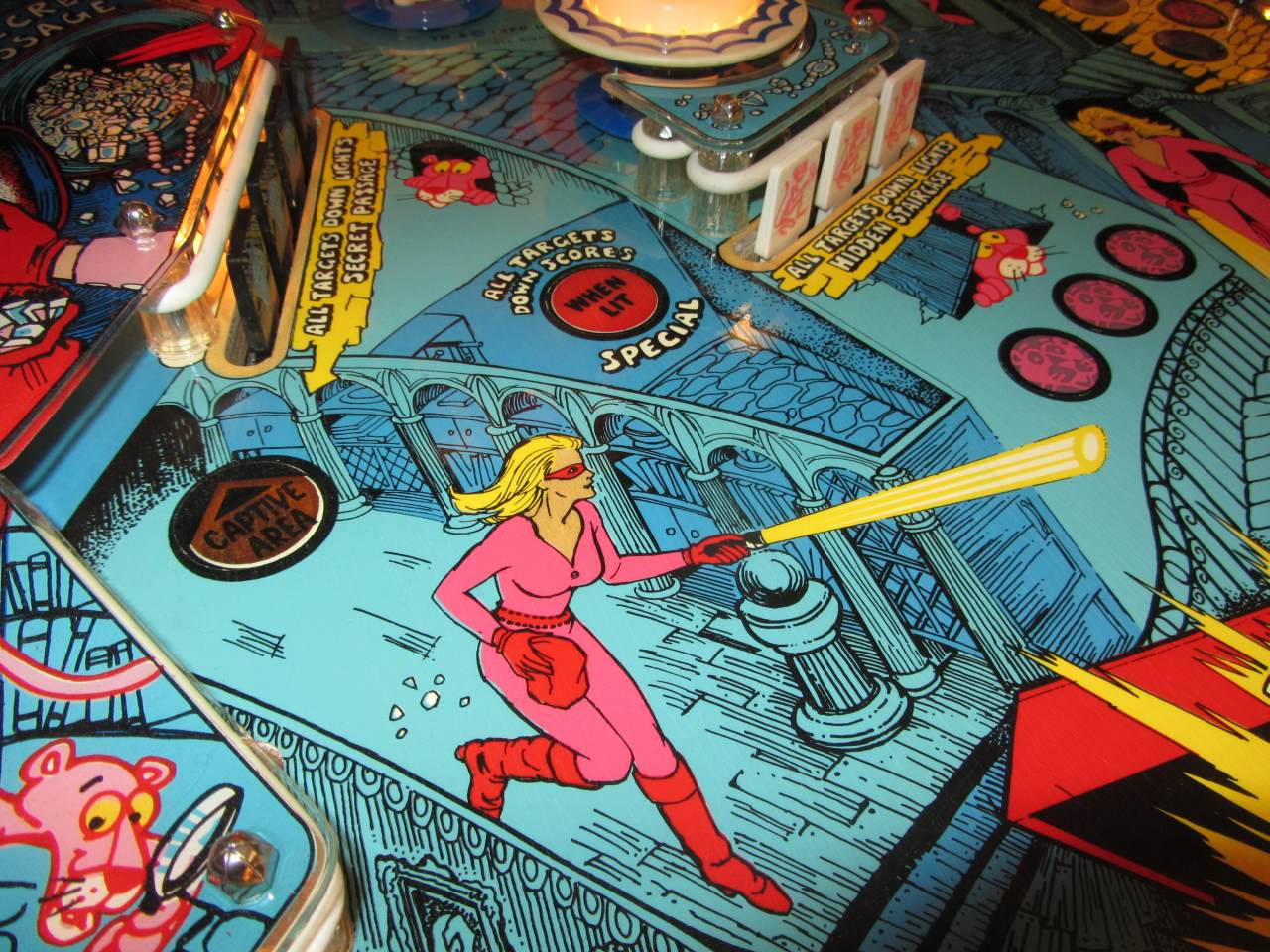 Gottlieb Pink Panther Pinball Machine 1  Pinballmania LLC