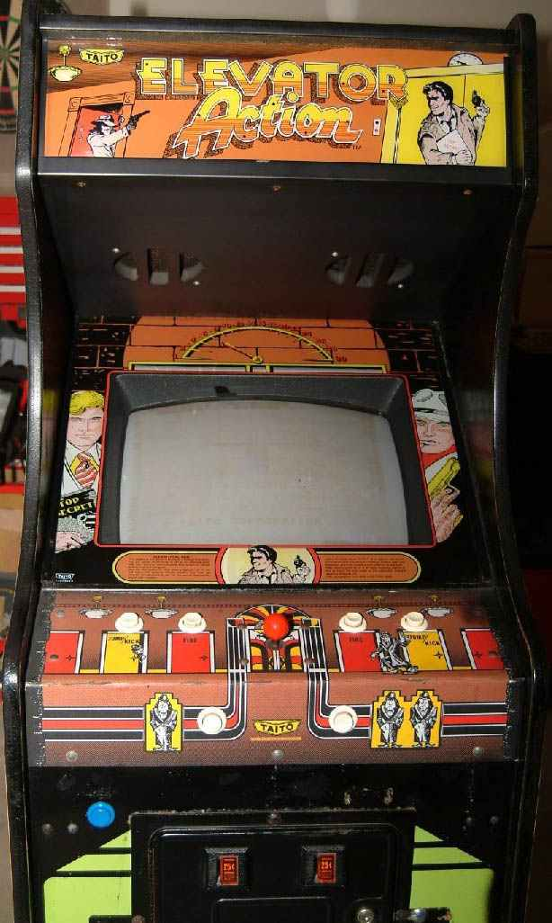 Elevator Action Arcade Video Game of 1983 by Taito at wwwpinballrebelcom