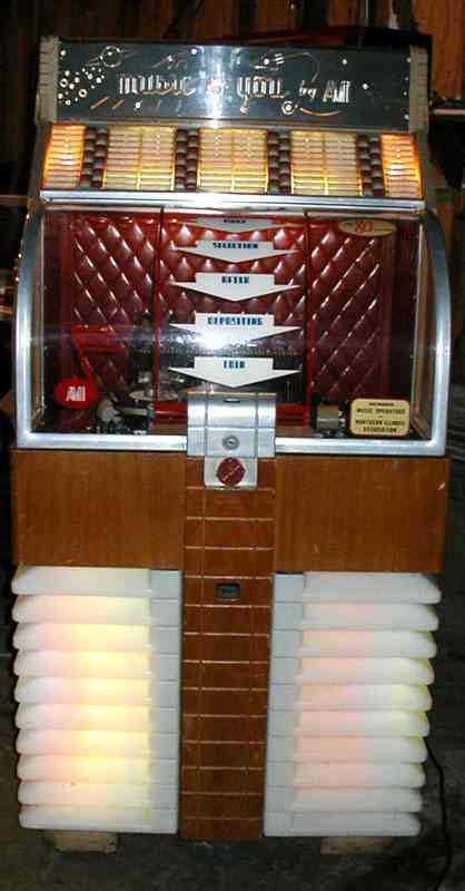 AMI Rowe model D 40  D 80Jukebox of 1952 at wwwpinballrebelcom
