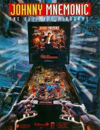 Johnny Mnemonic Pinball By Williams of 1995 at www