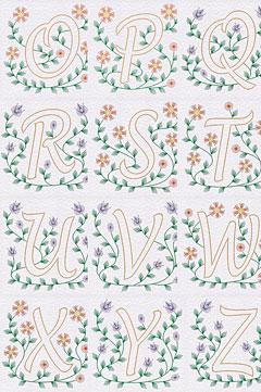 PinBroidery initial patterns