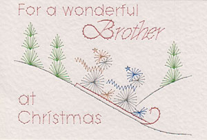 Brother at Christmas pattern added at PinBroidery