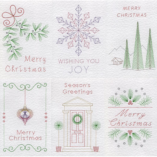 Christmas patterns added at Stitching Cards
