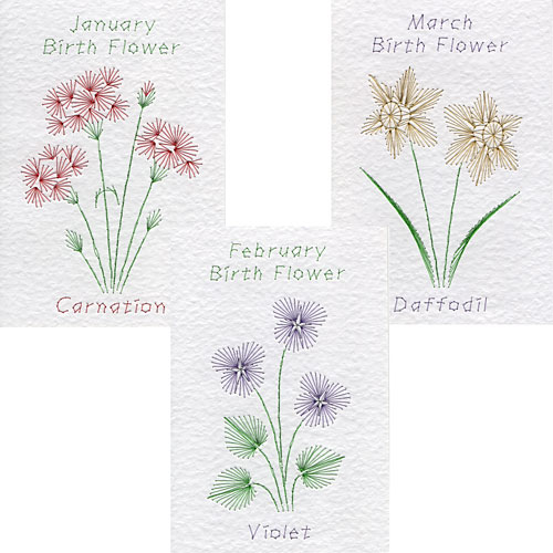Birth flower patterns added at Form-A-Lines