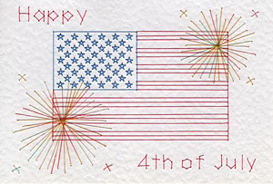 4th of July flag pattern at Stitching Cards