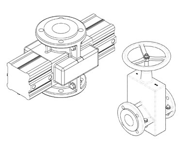 CAD data for AKO Pinch Valves