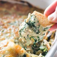Baked Spinach, Artichoke, and Crab Dip