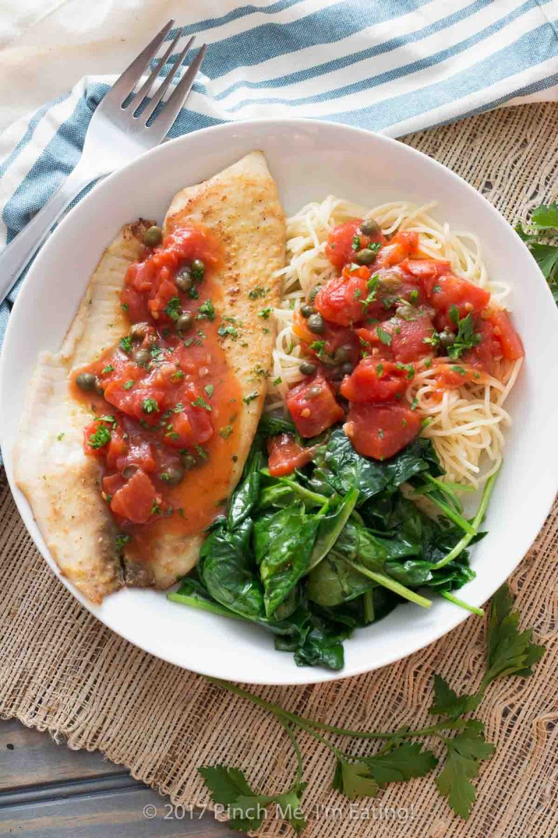 20-Minute Tilapia with Tomatoes and Capers