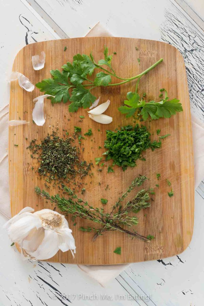 Garlic herb butter is an essential spread for tea sandwiches! You can also use this on steak, vegetables, bread, or anything else you can think of!