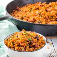 Baked Charleston Red Rice with Sausage