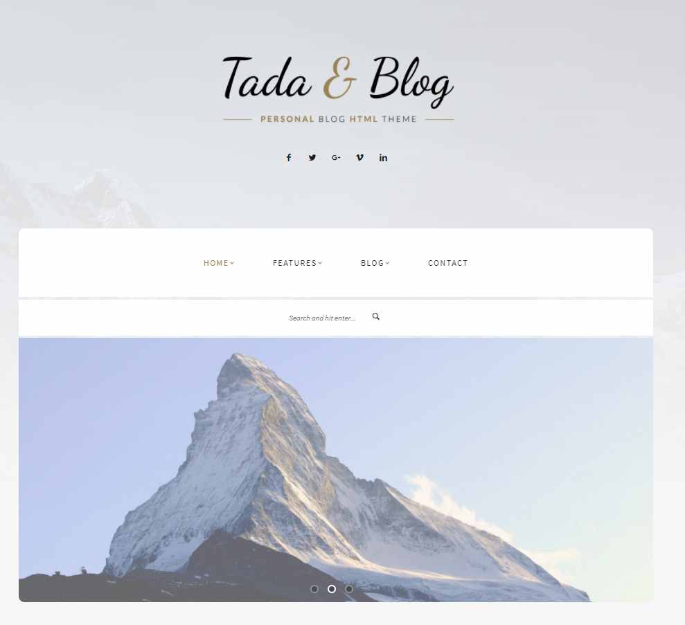 Tada & Blog - WordPress theme