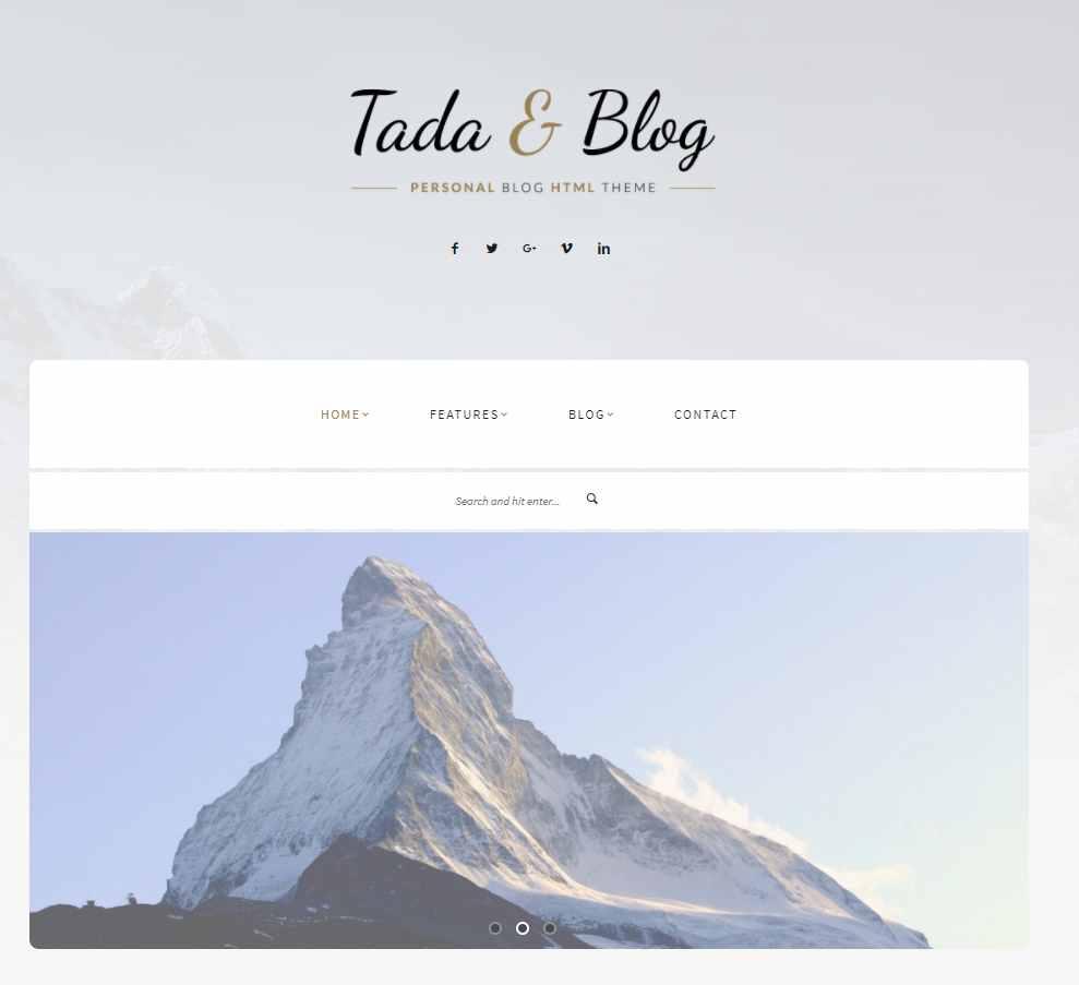 Tada & Blog - WordPress theme