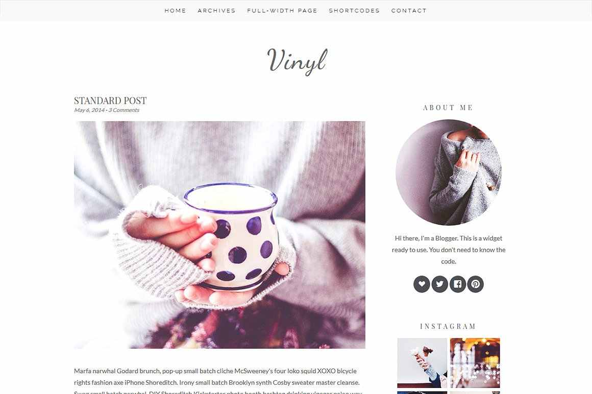 Vinyl - WordPress theme
