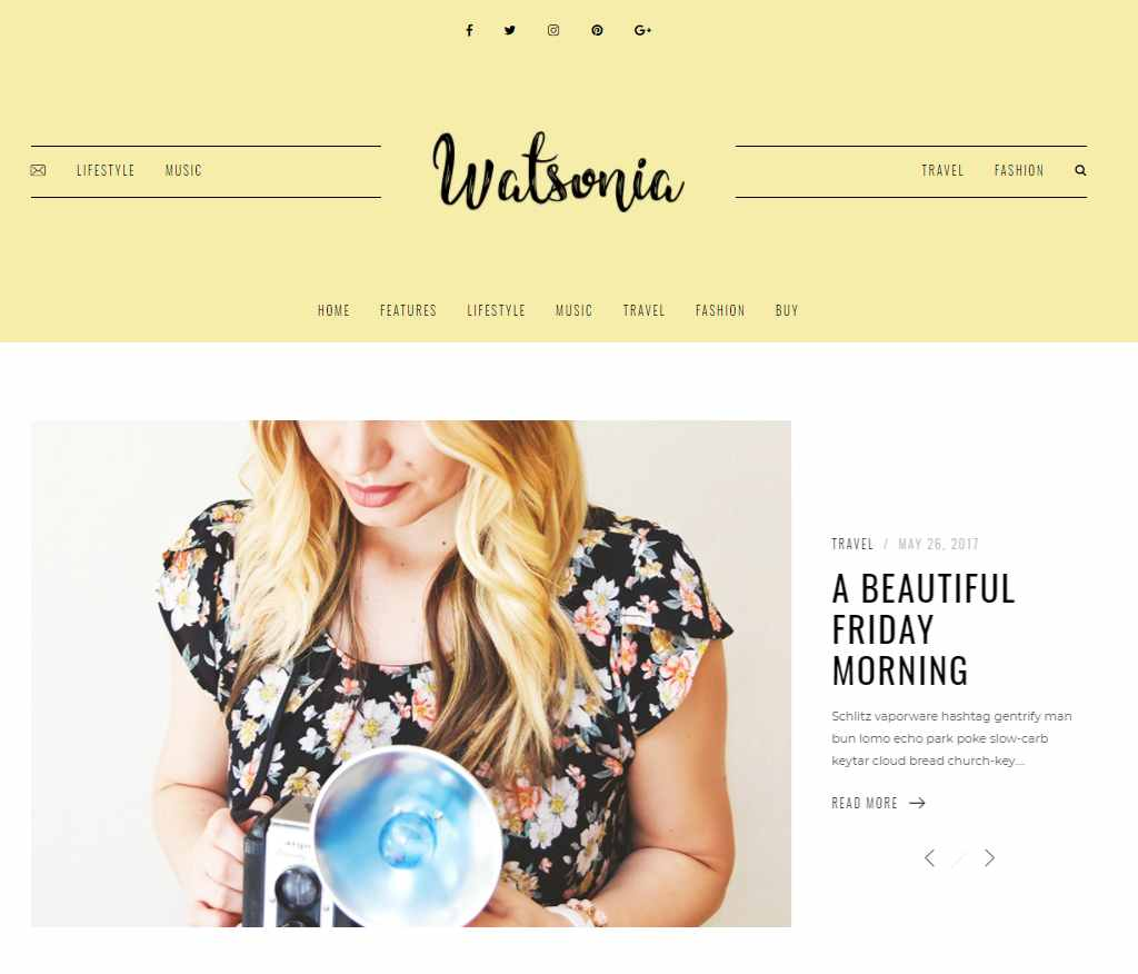 Watsonia - WordPress Theme