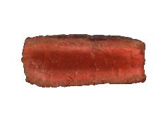 Cut view of a medium rare steak