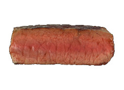 cut view of a medium steak