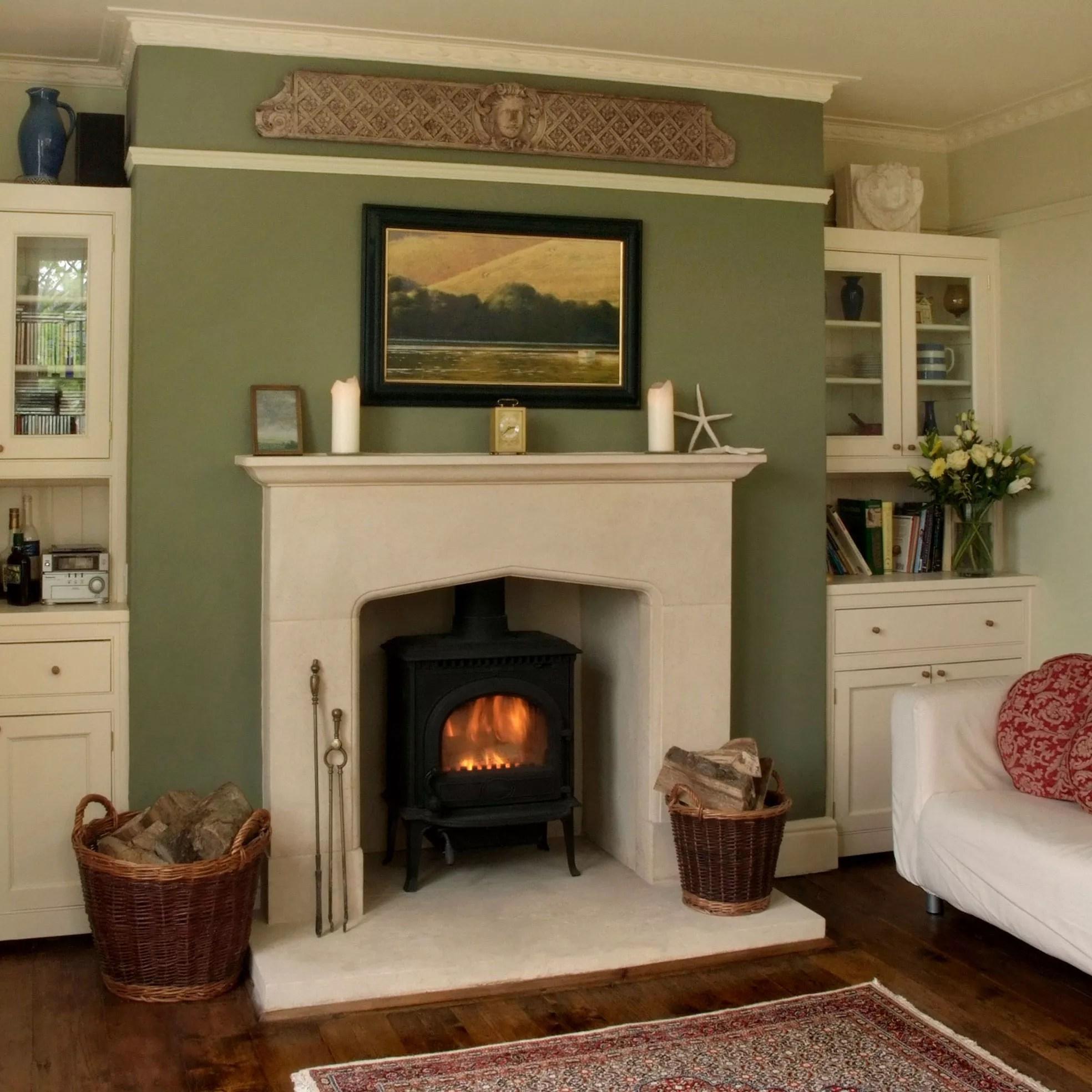 Country Tudor stone surround  Pinckney Green Fireplaces