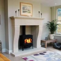 French Stone Fireplace Design. - Pinckney Green Stoneworks