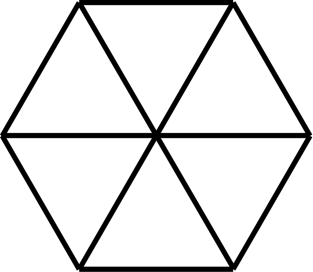 Outline Image Of Hexagon Clipart