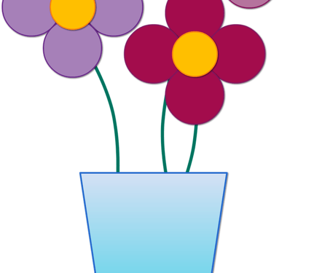 Gambar Vas Bunga Animasi Clipart Full Size Clipart