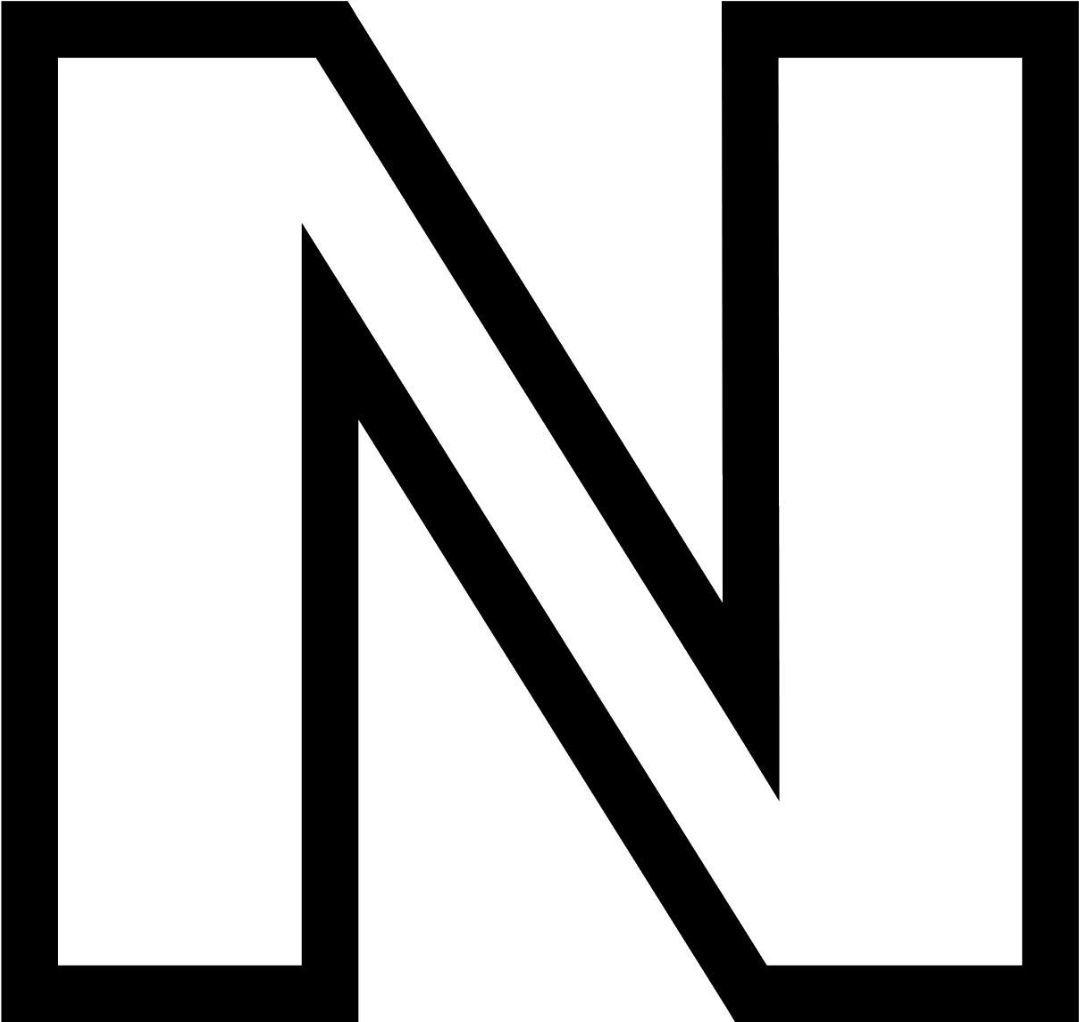 hight resolution of it s a block letter style rendering of the letter n clipart 1600x1600
