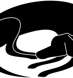 dog nap cliparts sleeping dog silhouette transparent png download 2400x2400 png [ 1319 x 904 Pixel ]