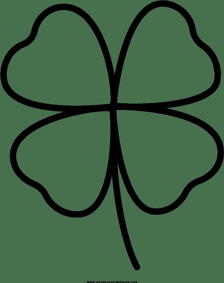 27 Gratis 4 Blattriges Kleeblatt Malvorlage Beste