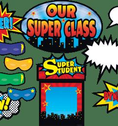 clip art borders for teachers superhero bulletin board display set teacher created resources superhero bulletin board clipart [ 2000 x 1330 Pixel ]