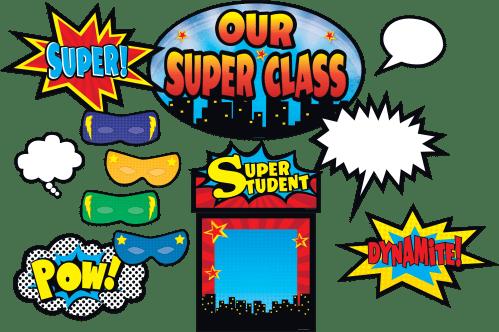 small resolution of clip art borders for teachers superhero bulletin board display set teacher created resources superhero bulletin board clipart