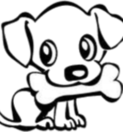 dog bone drawings group banner download cute dog easy drawing clipart 1761x1674  [ 1497 x 1437 Pixel ]