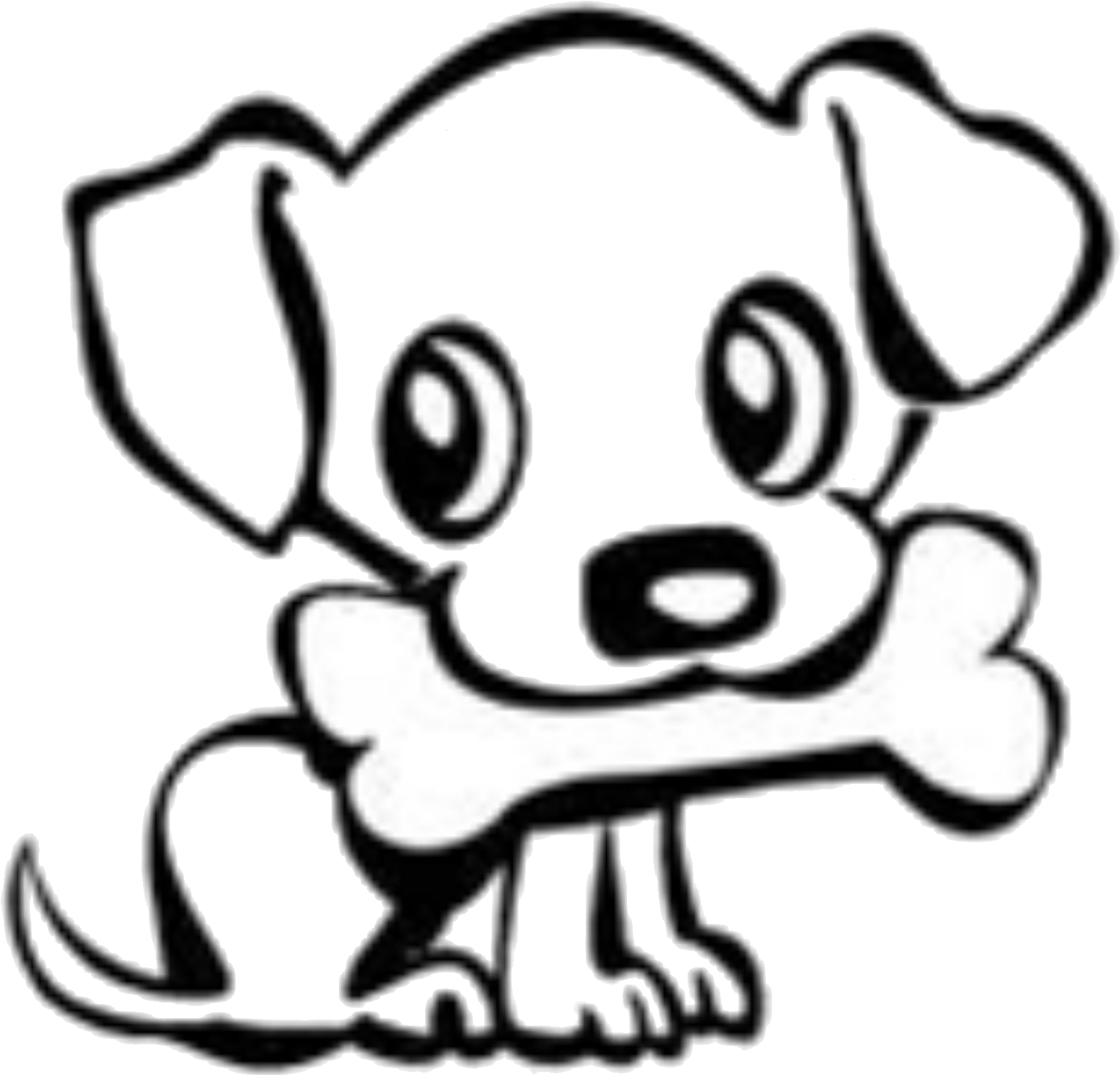 hight resolution of dog bone drawings group banner download cute dog easy drawing clipart 1761x1674