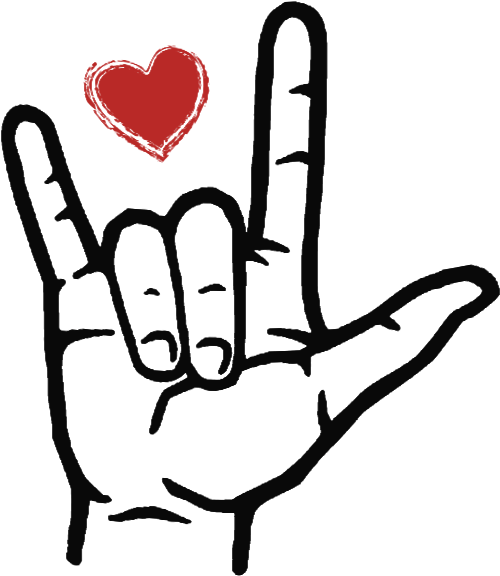Download Love You In Sign Language Outline Clipart - Full Size ...