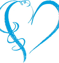 southern dreams creations heart graphics wind swirls blue light heart clipart 1000x1000  [ 992 x 921 Pixel ]