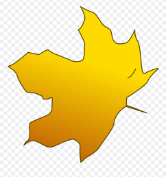 illustration of a yellow autumn leaf yellow leaves clipart png download [ 880 x 941 Pixel ]