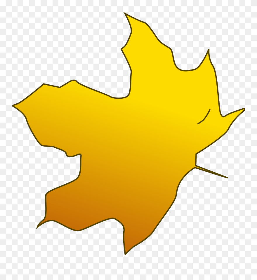 medium resolution of illustration of a yellow autumn leaf yellow leaves clipart png download