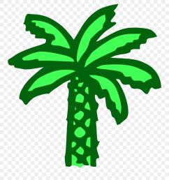 free vector cartoon green palm tree clip art graphic cartoon palm tree png download [ 880 x 983 Pixel ]