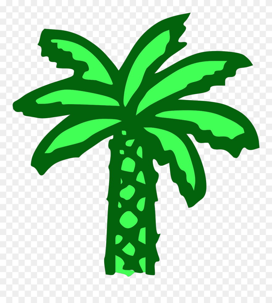 hight resolution of free vector cartoon green palm tree clip art graphic cartoon palm tree png download
