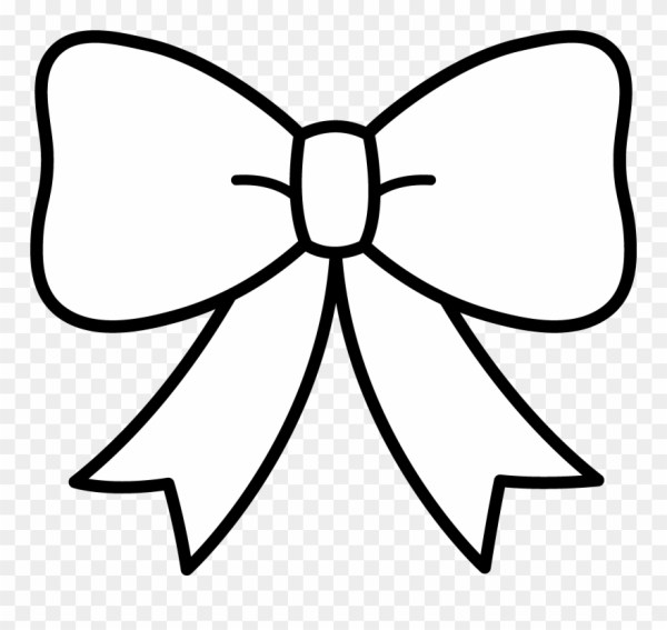 bow clipart black and white - ribbon