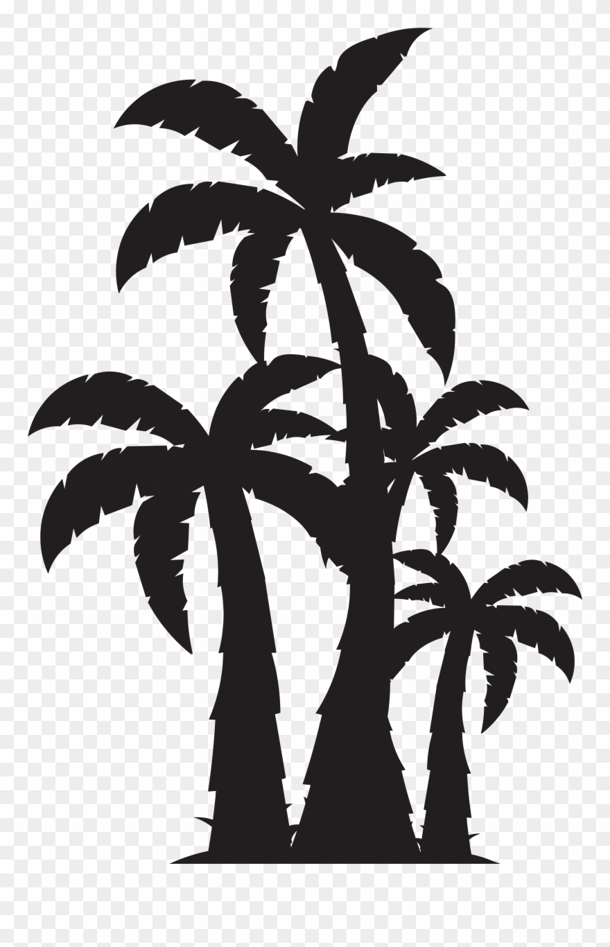 hight resolution of palm trees svg free clipart