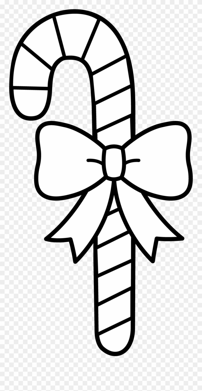 clip black and white download christmas coloring page - candy cane