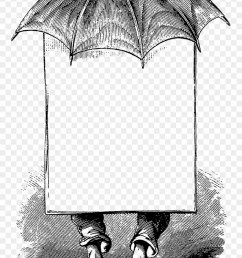 0255 victorian man umbrella advertising blank banner idioms in his sauce beltr n mar a [ 880 x 1406 Pixel ]