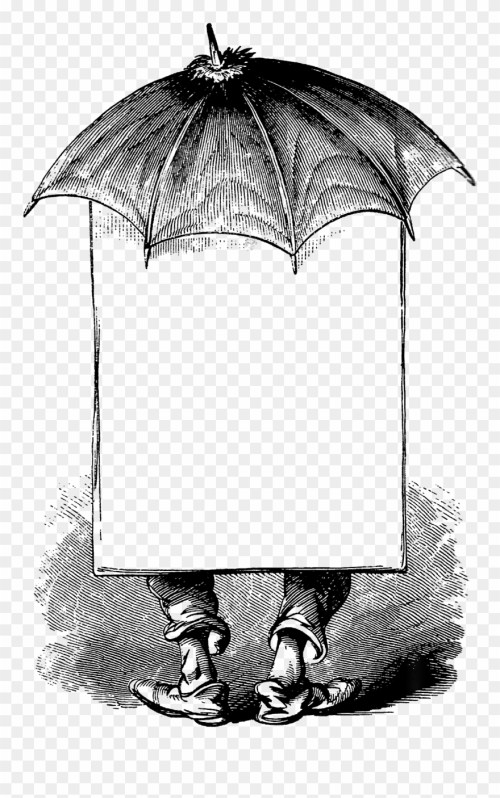 small resolution of 0255 victorian man umbrella advertising blank banner idioms in his sauce beltr n mar a