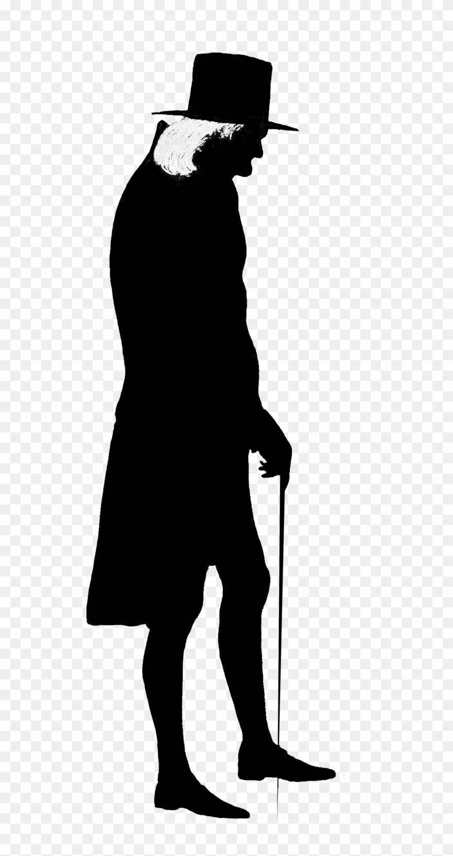 hight resolution of silhouette man old transparent silhouette man clipart