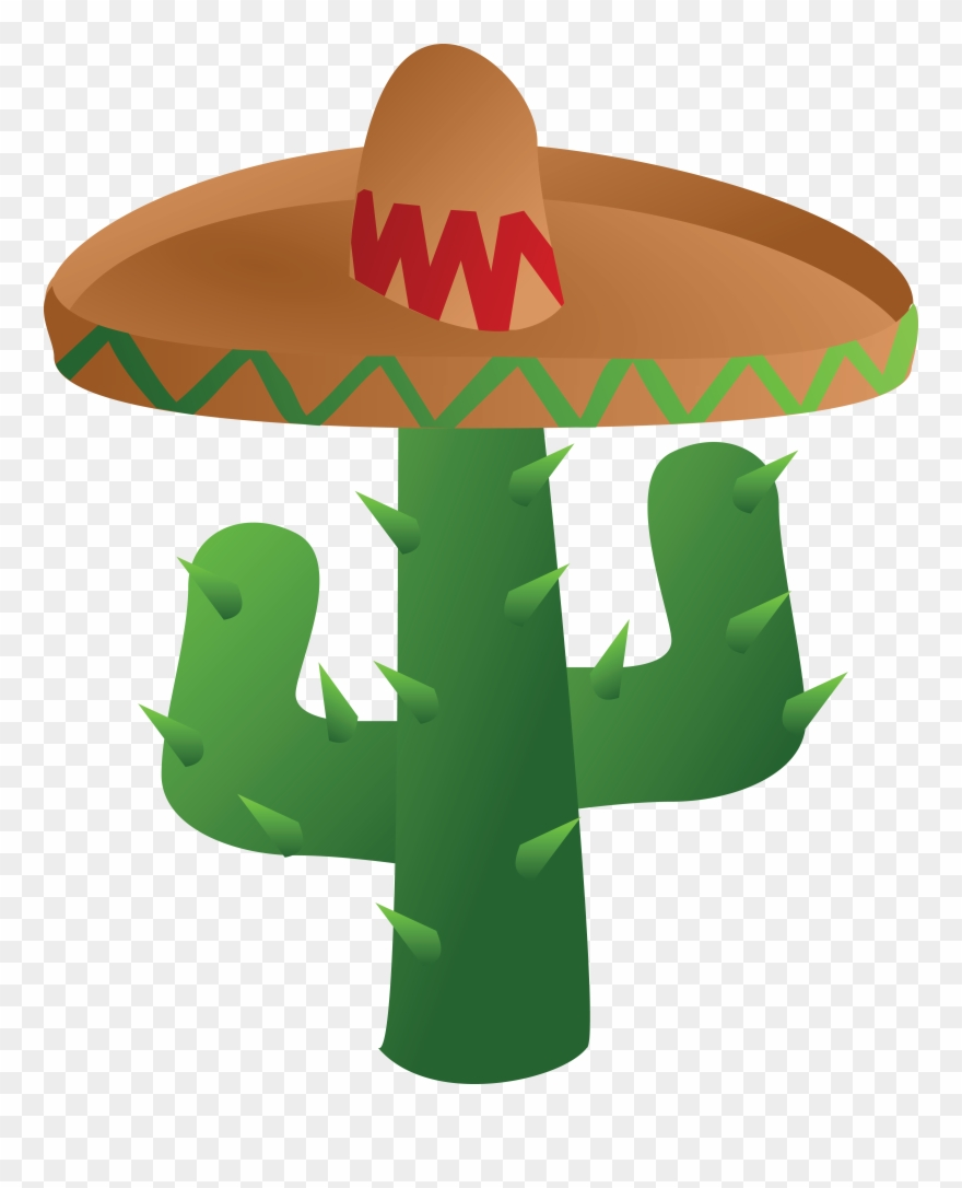 hight resolution of free clipart of a mexican cactus wearing a sombrero cinco de mayo png transparent png