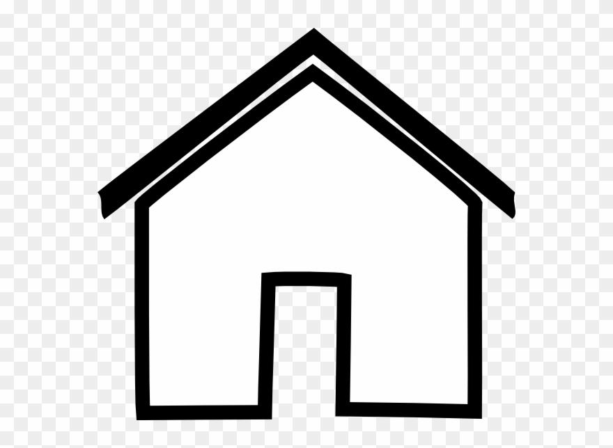 black house outline clip