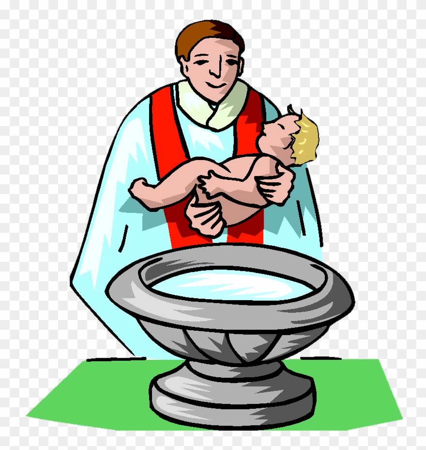 hight resolution of baptism clip art free baby getting baptized clipart png download
