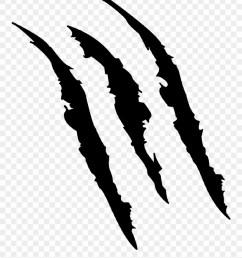description claw marks scratch stencil clipart [ 880 x 1069 Pixel ]